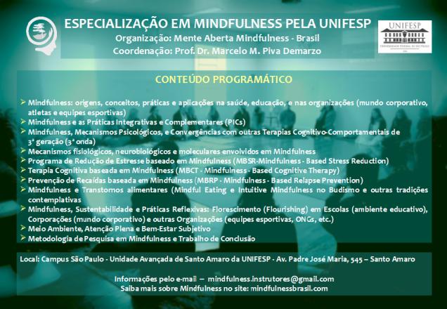 Especialização em Mindfulness novo flyer